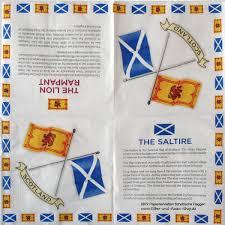 Oldest Flag In Europe 20 Papierservietten Flaggen Schottland Saltiere Lion Rampant
