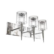 shop bazz glam 3 light 10 25 in chrome cylinder vanity light at