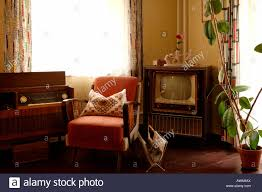 Living Room Set With Tv 1950s Living Room Set With Television Radio And Armchair Lauf An