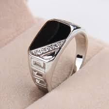 aliexpress buy 2016 new fashion men jewelry black cz size 8 12 2017 newest design fashion men jewelry white gold color