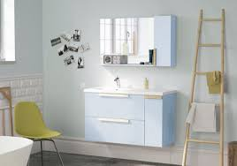 nordic bathroom vanity ensemble mirror light blue