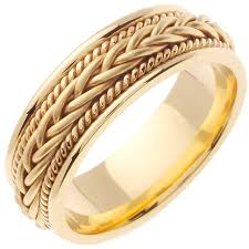 wedding ring depot 14k yellow gold braid band 7mm 3000153 shop at wedding
