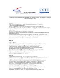 Sample Resume For Software Tester Fresher by Sample Resume For Freshers In Software Testing Resume Templates