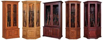 Gun Cabinet Specifications Lancaster Pennsylvania Amish Crafted Hardwood Curio Display Cases