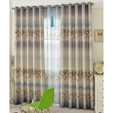 Blue And Grey Curtains Exquisite Printed Gold Leaf Grey And Blue Bedroom Curtains