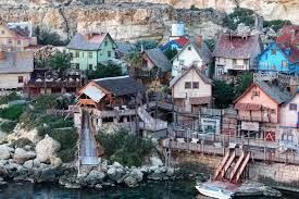 popeye village free images water nature town home film rustic holiday
