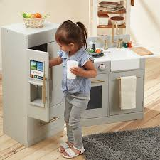amazon com teamson kids urban adventure play kitchen with ice