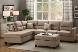 Sofa With Ottoman by Poundex Bobkona Toffy Reversible Sectional U0026 Reviews Wayfair