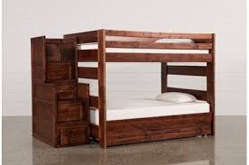 sedona full over full bunk bed with stair chest living spaces
