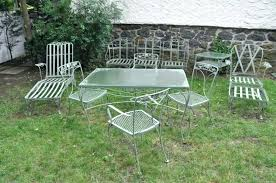 Antique Metal Patio Chairs Stylish Vintage Metal Outdoor Table Retro Patio Furniture Stylish