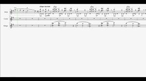 dragon age origins ost title theme scrolling sheet music video
