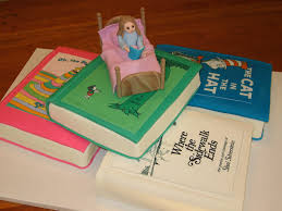 stack of books baby shower cake 2 of these