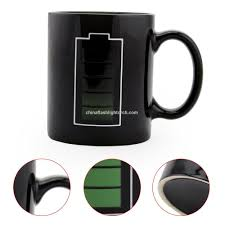 promotional sidiou group black creative battery power cup glass