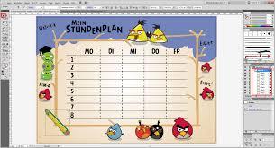 stundenplan designen tutorial stundenplan erstellen und ausdrucken saxoprint