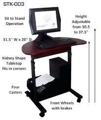Ikea Desk Attachment Desk Adjustable Height Stand Up Computer Desk Stand Up Computer