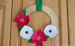 deco mesh christmas flower wreath tutorial hometalk