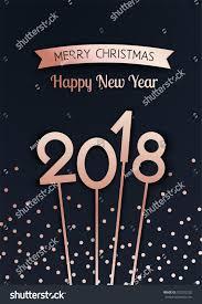 merry happy new year 2018 stock vector 702252202