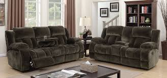 Recliner Fabric Sofa Sadhbh Plush Brown Chion Fabric Sofa And Loveseat Recliners W