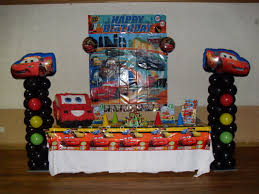 Bday Decorations At Home Table Centerpieces For Parties Cars Party Party Decorations By