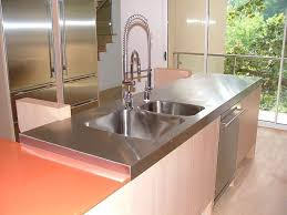 stainless steel countertop with built in sink residential seal tex
