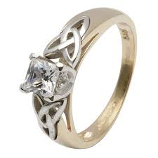 Princess Cut Wedding Ring by 14kt Princess Cut Diamond Trinity Knot Ring