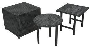 Umbrella Side Table Side Table Outdoor Wicker Barrel Side Table Black Wicker Side