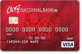 debit card city national bank visa emv debit card
