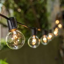 c9 incandescent light strings 2 inch e17 bulbs 100 foot black wire c9 strand clear white globe