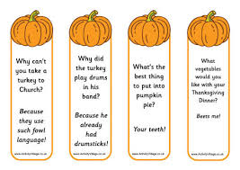 pumpkin jokes bookmarks