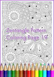 zen patterns coloring pages winter coloring page zentangle merry christmas adult and children