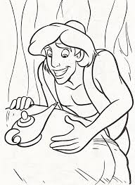 aladdin finding genie u0027s lamp free printable coloring good