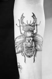 two beetles cavort in this insect tattoo by david hale not your