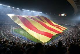 Barcelona Spain Flag Today Is The National Day Of Catalonia It Commemorates The Fall
