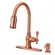antique copper kitchen faucets fontaine ff chl4k ac pull kitchen faucet antique copper