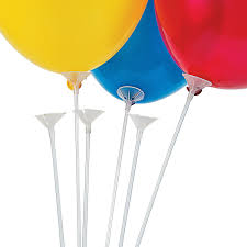 balloon sticks 12 plastic balloon sticks 24 and cups kitchen dining