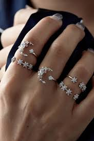ring set rue gembon rue gembon sylvie silver moon ring set