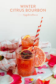 holiday cocktails png winter citrus bourbon cocktail recipe by gabriella