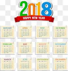 Calendar 2018 Ai Template 2018 Calendar Png Images Vectors And Psd Files Free