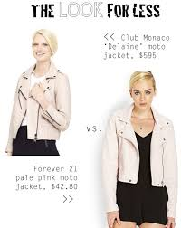 light pink blazer forever 21 the look for less club monaco pale pink moto jacket the budget