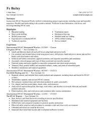 Hvac Resume Samples Pdf by Hvac Resume Resume Cv Cover Letter Remarkable Layout Of