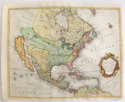 Map Of West Indies Sold 1745 Seale A Map Of North America With The European