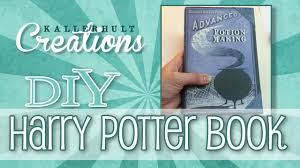 diy harry potter craft book youtube
