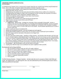 Sample Of Nursing Assistant Resume by Sample Cna Resumes Astounding Inspiration Cna Resume Template 8