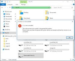 drive not accessible how do i fix windows was unable to complete the format error