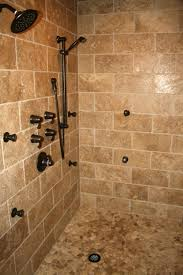here u0027s a tile shower design with a mosaic tile shower floor and