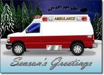 ambulance ems greeting cards