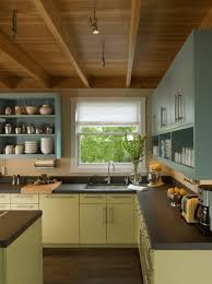 Painted Kitchen Cabinet Ideas Freshome Inside Kitchen Cupboards Beautiful Painted Kitchen Cabinet Ideas
