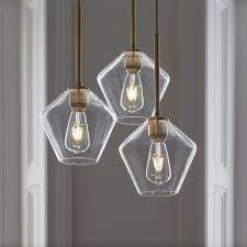 Small Glass Chandeliers Brass Glass Lighting West Elm