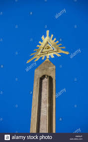 the eye of providence symbol of the freemasons stock photo