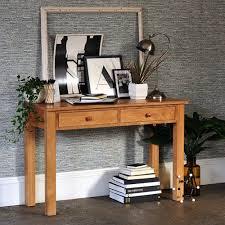 Oak Laptop Desk Appleby Oak Wide Laptop Desk Console Tables Real Wood And Desks